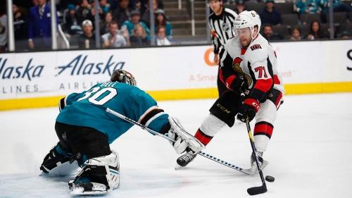 Chris Tierney's overtime goal leads Senators past Sharks