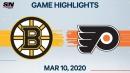 Bruins end Flyers' win streak at nine games