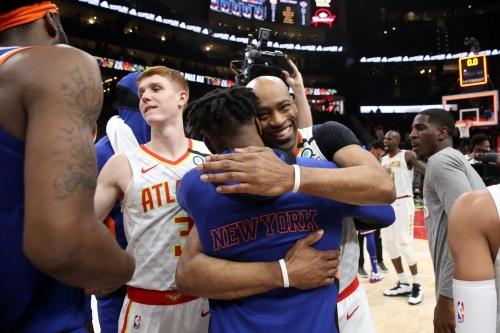 "Knicks 136, Hawks 131 (OT): ""Tonight is the last night of NBA basketball"""