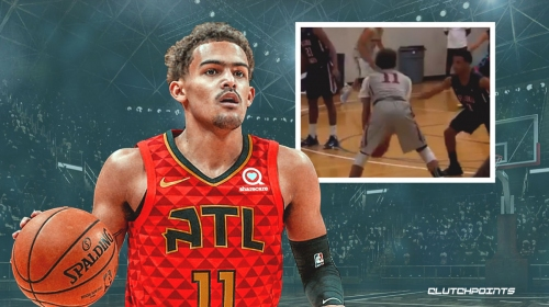 Hawks' Trae Young admits hilarious discovery while binging his high school highlights