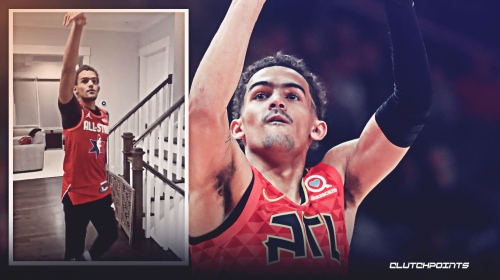VIDEO: Hawks star Trae Young does 'in-house' 3-point shooting competition