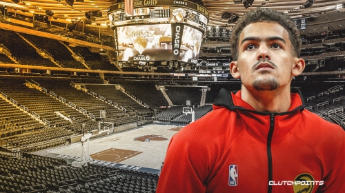 Hawks' Trae Young's initial reaction to season being suspended vs. Knicks