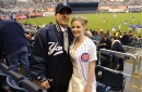 We found the couple in this Cubs/Yankees wedding photo