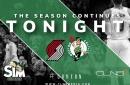 Boston Celtics Simulation vs. Blazers with Sean Grande & Cedric Maxwell