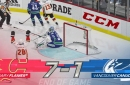 NHL 20 Sim: Flames score at will in 7-1 rout of Canucks