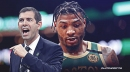 Celtics' Brad Stevens reacts to Marcus Smart's decision to announce his COVID-19 positive test