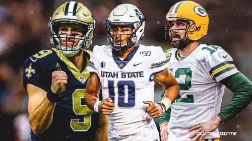 Report: Packers, Saints among the teams visiting with Utah State quarterback Jordan Love