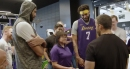 Lakers Video: David Blaine Performs Magic Trick At UCLA Health Training Center
