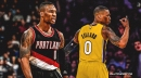 Blazers' Damian Lillard reacts to Lakers trade request in April Fools' Day joke