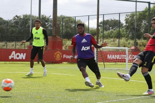 Pictures: Manchester United training session before Aston Villa game