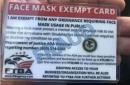 'Mask exempt' cards? Nice try, but they're not valid