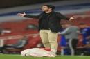 Arsenal boss Mikel Arteta claims Jamie Vardy should have been sent off before Eddie Nketiah red card