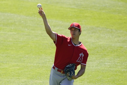 Shohei Ohtani pitches in Angels' intrasquad game, looks rusty