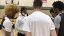 Ja Morant shows up to support Hoop City Basketball Club in its return to the court