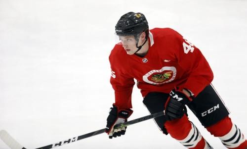Chicago Blackhawks finalize Ian Mitchell's 3-year deal that runs through 2022-23 and sign Pius Suter and Wyatt Kalynuk
