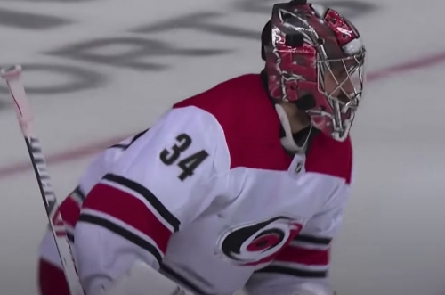 Did former Red Wings goalie Petr Mrazek just make the save of the playoffs? (VIDEO)