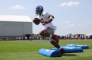 WATCH: Saquon Barkley and NY Giants hit field for conditioning in training camp