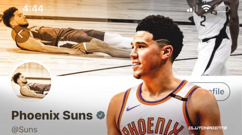 Suns' hilarious social-media facelift to celebrate Devin Booker game-winner