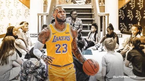 VIDEO: LeBron James' I PROMISE School students serve as virtual fans for Lakers-Thunder game