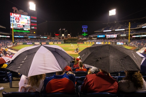 Braves-Phillies opener postponed due to weather; doubleheader on Sunday