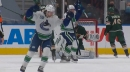 Quinn Hughes snipes first playoff goal to tie Canucks with Wild