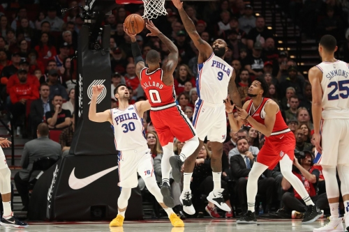 Sixers in search of fourth straight win Sunday against Portland