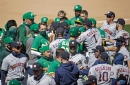 Astros, A's clear benches, empty seats as Oakland wins 9th in row