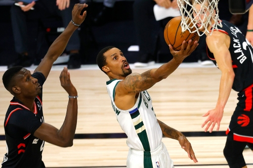 Photos from the Bucks' 114-106 loss to the Toronto Raptors