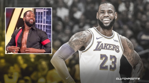 Lakers' LeBron James hilariously reacts to Dwyane Wade copying his open-shirt look