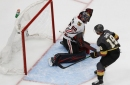 Blackhawks can't fend off Golden Knights late in 4-1 loss in Game 1