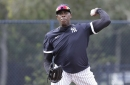 Aroldis Chapman faces hitters for first time since coronavirus diagnosis, close to Yankees return