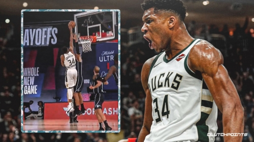 Video: Bucks star Giannis Antetokounmpo rises high over Nikola Vucevic and dunks in his face