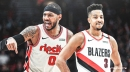 Blazers' CJ McCollum reacts to possibility of Carmelo Anthony returning next season