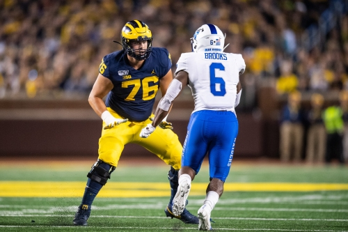Ryan Hayes is the face of Michigan football's new-look offensive line