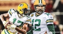 Aaron Rodgers' perfect throw leads to impressive Davante Adams first-half TD for Packers