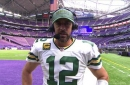 Aaron Rodgers breaks down how he and Davante Adams were able to connect 14 times vs. Vikings