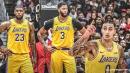 Lakers' Kyle Kuzma reacts to LeBron James, Anthony Davis making first-team All-NBA