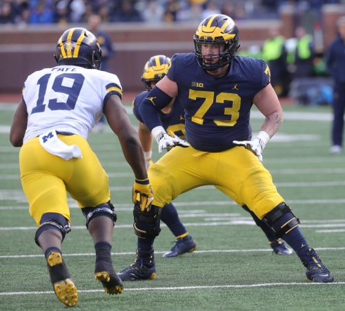 Michigan football OT Jalen Mayfield opts back into college football season