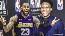 Lakers' LeBron James reacts to getting just 16 out of 101 MVP votes