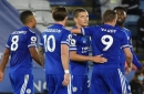 Result: Leicester put four past Burnley to move top of the Premier League