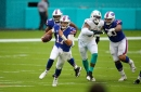 Josh Allen erupts for 417 yards and four TDs as Bills take down Dolphins 31-28
