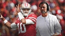49ers' Jimmy Garoppolo injury 'not that bad,' according to Kyle Shanahan