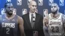 Adam Silver details critical talk with LeBron James, Kawhi Leonard after players' strike