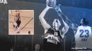 VIDEO: Nikola Jokic sinks insane 1-legged jumper over LeBron James