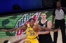 Lakers get a boost early from Dwight Howard, who makes most of rare start
