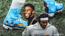 Cam Newton paying tribute to Chadwick Boseman with game cleats vs. Raiders
