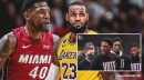 Lakers' LeBron James reacts to Udonis Haslem's angry rant at Heat players