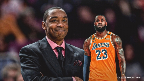 Isiah Thomas reacts to LeBron James leaving court early in Game 3 vs. Heat