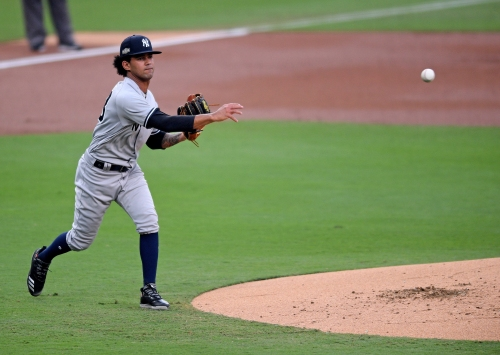 J.A. Happ replaces Deivi Garcia for Yankees after one inning of Game 2 of ALDS vs. Rays