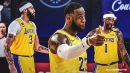 Lakers' LeBron James reacts to Kentavious Caldwell-Pope, Anthony Davis' clutch plays in Game 4